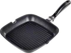 Zwarte Haushalt International Grillpan van aluminium - 24 x 24 cm - o.a. inductie