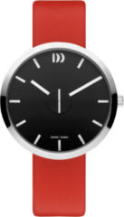 Zilveren Danish Design watches unisexhorloge Wink Black Red IQ24Q1198