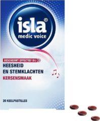 Isla medic voice - 20 keelpastilles- bij heesheid en stem klachten- kersen smaak