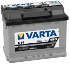 Varta BLACK Dynamic 556 400 048 3122 C14 12Volt 56 Ah 480A/EN Start Accu 4016987119396