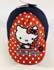 Marineblauwe Hello Kitty babypet marine 50 cm - 12-24 maanden
