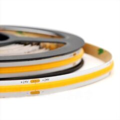 Grijze Groenovatie LED COB Strip - 5 Meter - 5 Watt/meter - 352 LED'/m - Warm Wit - 24V