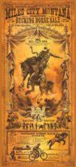 Beige Signs-USA rodeo western affiche - Miles City Montana - Wandbord - Dibond - 100 x 45 cm