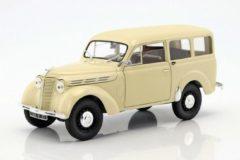 Creme witte Renault Break 300 kg Juvaquatre 1951 - 1:18 - Norev