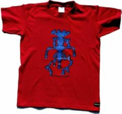 B & C Anha'Lore Designs - Alien - Kinder t-shirt - Rood - 9/11j (134-146)