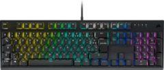 Zwarte Corsair K60 RGB Pro Mechanisch BE Azerty Gaming Toetsenbord - MX Cherry Viola