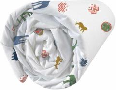 Witte Matt & Rose Hoeslaken African Spirit - Eenpersoons - 90 x 190/200 cm - Katoen