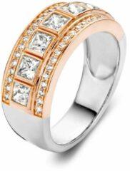 Roze Velini jewels-R6317R-50 -Ring -925 Zilver gerodineerd- Cubic Zirkonia