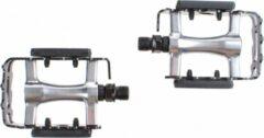 Mirage ATB/MTB pedalen antislip zwart/zilver 9/16 inch reflectoren