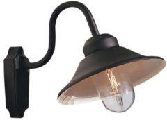 Konstsmide Vega 556-750 Buitenlamp (wand) Energielabel: Afhankelijk van de lamp Spaarlamp, LED E27 60 W Zwart