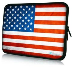 Rode Sleevy 17,3 inch laptophoes USA vlag - laptop sleeve - laptopcover - Collectie 250+ designs