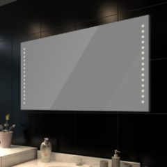 Zilveren VidaXL - Badkamerspiegel met LED verlichting - Spiegel - Glas - 60x100 cm - Transparant