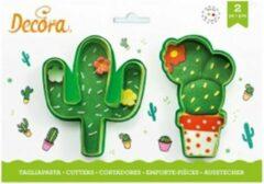 Groene Decora Koekjes Uitsteker Set Cactussen -2st