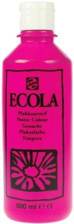 Afbeelding van Talens Ecola plakkaatverf flacon van 500 ml, tyrisch roze (magenta)