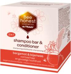 De Traay Bee Honest Shampoobar Bee Honest (de Traay), bergamot & bijenwas, voor normaal haar en gevoelige hoofdhuid, 80 gram