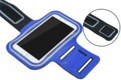 Sportarmband XL tot 6.5 inch scherm oa geschikt voor iPhone 6/6s/7/8 Samsung s7/s8/s9 Huawei p10- D Blauw