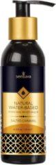 Transparante Sensuva - Natural Waterbasis Glijmiddel Gezouten Caramel 125 ml