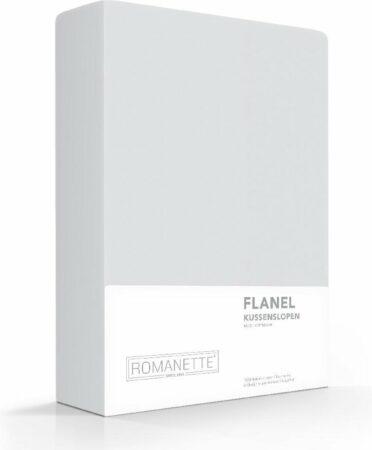 Afbeelding van 2x Hoogwaardige Flanel Kussenslopen Grijs   60x70   Warm En Zacht   Ideaal Tegen De Kou