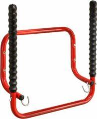 Rode MOTTEZ Wandhouder Ideaal Voor 2 Fietsen Op Te Hangen - Inklapbaar Draagt Tot 40Kg - 30x52x51cm