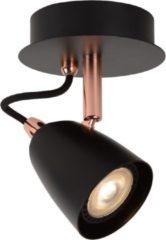 Lucide RIDE-LED - Plafondspot - Ø 10 cm - LED Dimb. - GU10 - 1x5W 3000K - Koper