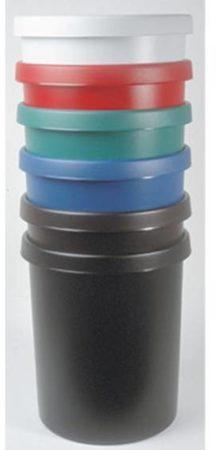 Afbeelding van Grijze Helit the german H6106295 Waste paper basket 45 l (Ø x H) 390 mm x 480 mm Polyethylene (PE) Black 1 pc(s)