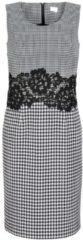 Kleid Alba Moda Schwarz/Weiß