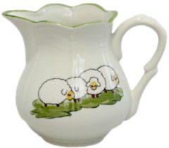 Milchtopf Schäfchen Zeller Keramik Weiß