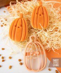 Beige Merkloos / Sans marque Boze pompoen Halloween koekvorm - uitstekers - koekjes - fondant