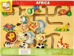 Bino mertens Puzzel 'zoek het juiste hoofd' Africa