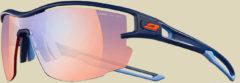 Julbo Aero Zebra Light Red Sonnenbrille/Sportbrille dunkelblau/blau