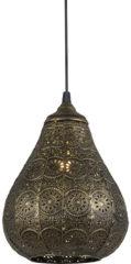 Gouden TRIO, Hanglamp, Jasmin 1xE14, max.40,0 W Armatuur: Metaal, Brons Ø:19,0cm, H:150,0cm