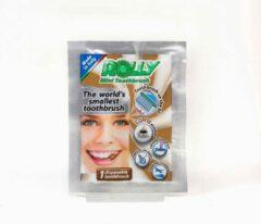 Bruine Mr White JR Rolly mini toothbrush koffie 10 stuks