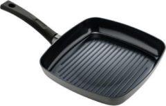 Antraciet-grijze ISENVI Avon keramische grillpan 26 CM - Ergo greep