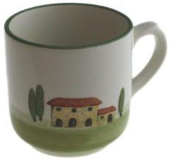 Kaffeebecher mit Henkel Bella Toscana Zeller Keramik Weiß