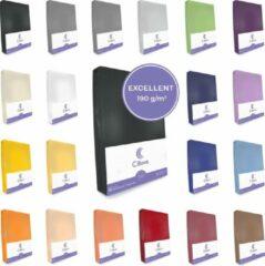 Cillows Excellent Jersey Hoeslaken voor Matras - 90x200 - 120x220 cm - (tot 35 cm hoogte) – Zwart
