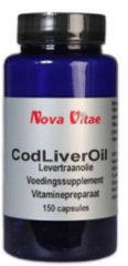Nova Vitae Cold Liver Oil, Kabeljauwlever Capsules 150 st