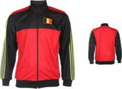 Rode Merkloos / Sans marque Belgie Trainingsjack Thuis Blanco -152