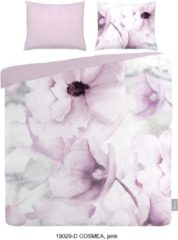 Roze ISeng Cosmea - Dekbedovertrek - Tweepersoons - 200x200/220 cm + 2 kussenslopen 60x70 cm - Pink