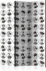 Witte Kamerscherm - Scheidingswand - Vouwscherm - 20s&30s [Room Dividers] 135x172 - Artgeist Vouwscherm