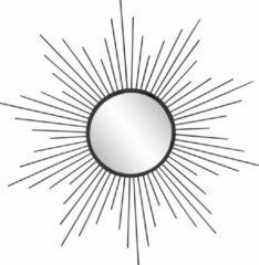 KILAMY - Metal zon spiegel - rond ca. 60 cm - zwart