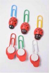 Rode Merkloos / Sans marque Paperclips Lieveheersbeestje 8 stuks