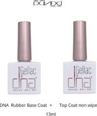 Transparante DNA ® DNA Gellac Rubber Base Coat / Top Coat non wipe