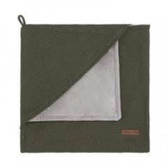 Groene Baby's Only Classic omslagdoek soft 75x75 cm khaki