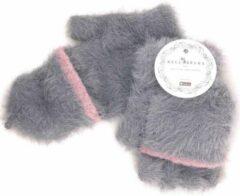 Winter TRANSFORMER-OPENVINGER CARESS Handschoenen van BellaBelga - grijs
