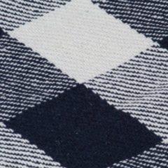 VidaXL Plaid geblokt 160x210 cm katoen marineblauw