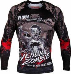 Zwarte Venum Kleding Zombie Return Rash Guard L/S Compression Shirts maat S