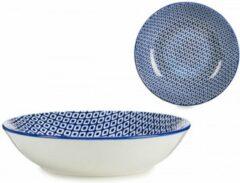 Arte Regal Borden blauw diamanten | Effen | Diepe | Schaal EN | Dessert | 4-delige set borden