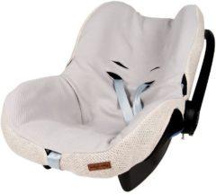 Zandkleurige Baby's Only hoes autostoeltje 0+ Classic zand