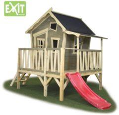 Beige EXIT Crooky 350 speelhuis met glijbaan