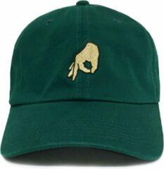 Beige Dad Brand Pet GOT'EM groen - Premium Baseball Cap - Groen - One-Size Dad Pet Heren